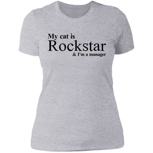 My Cat is Rockstar and I am a manager Shirt - TheTrendyTee