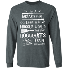 Load image into Gallery viewer, Just a wizard girl living in muggle world T-shirt - TheTrendyTee