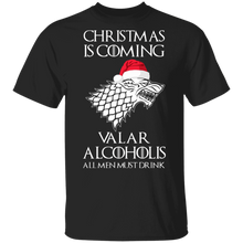 Load image into Gallery viewer, Christmas is coming Valar Alcoholis Ugly Christmas Sweater - TheTrendyTee