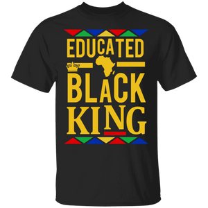 Educated Black King Shirt African DNA Pride - TheTrendyTee