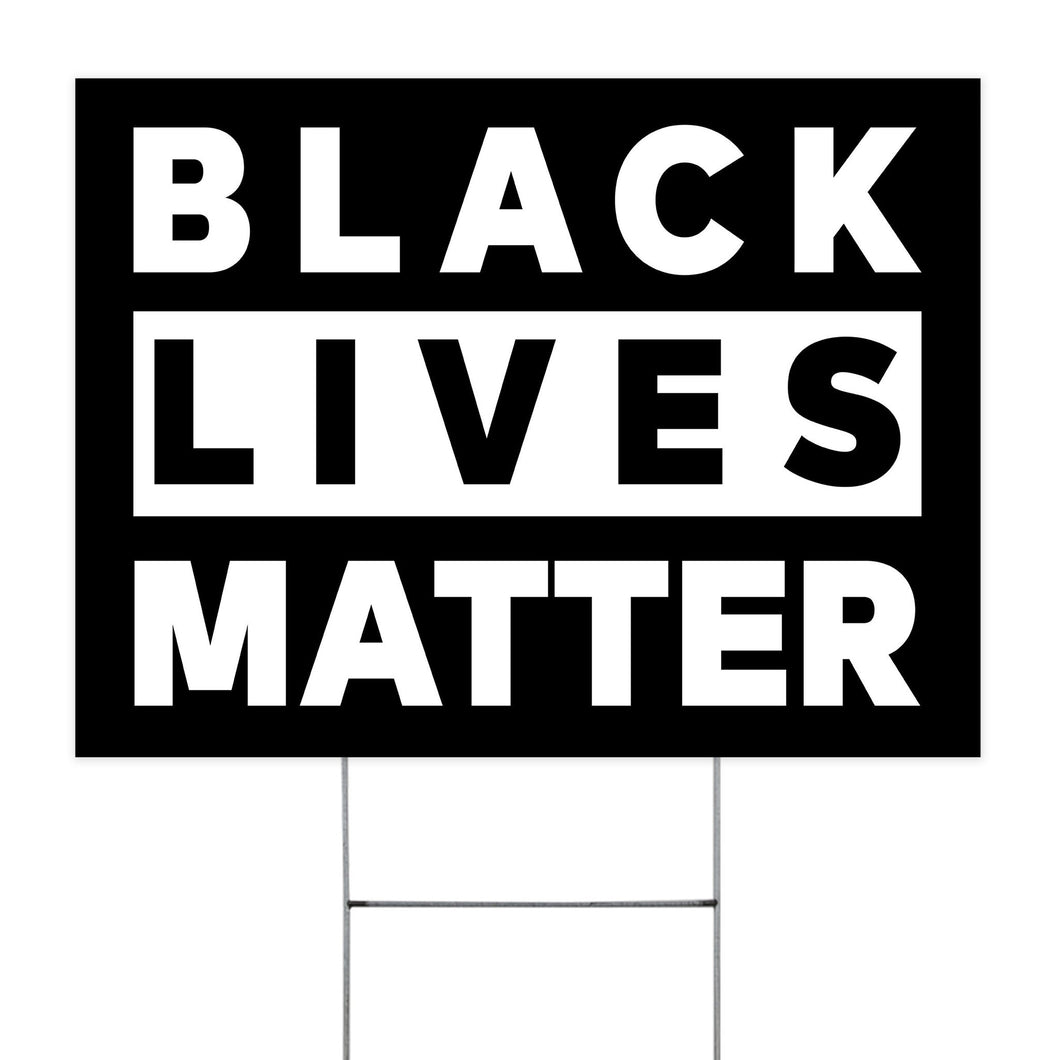 Black Lives Matter Yard Sign - TheTrendyTee