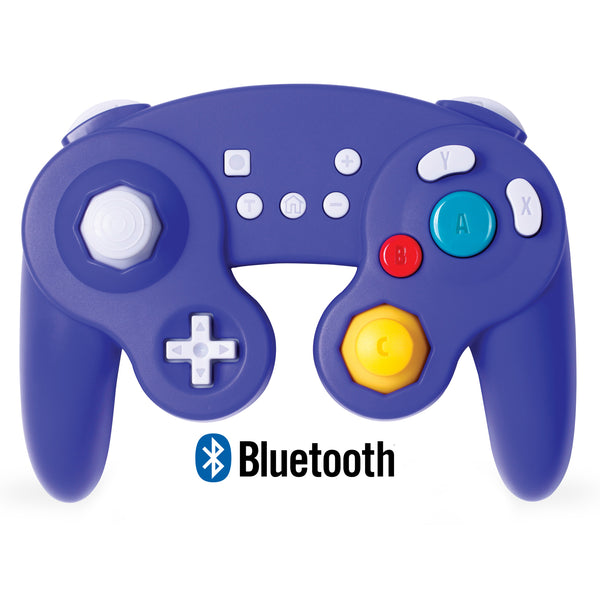 Bluetooth Wireless Gamecube Controller Switch, Compatible with Nintendo Switch and PC, Rechargeable, Motion Controls, Rumble, Turbo(purple blue)