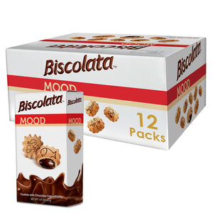 Biscolata Mood Cookies with Chocolate Filling Snacks - 12 Packs