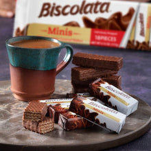 Load image into Gallery viewer, Biscolata Minis Milk Chocolate Wafer Bars - (18 pieces x3) TOTAL 54 Snacks