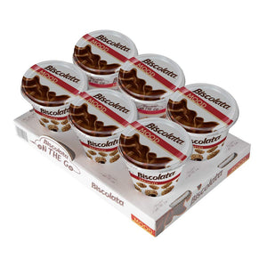Biscolata Mood Cookies with Chocolate Filling 6 Cups, Crispy Cookie Shell Filled with Milk Chocolate