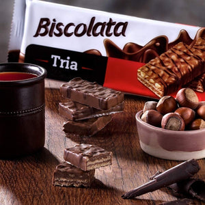 Biscolata Tria Milk Chocolate Wafers Snacks - (3 Pack - 36 Pieces) (Hazelnut)