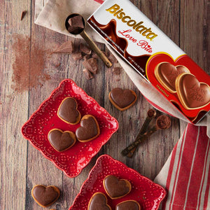 Biscolata Love Bite Chocolate Cookies with Hazelnut Cream Snacks Heart Shaped Cookies (3 Pack)