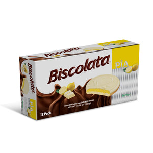 Biscolata Pia Cookies with Fruit Filling – 12 Pack Snacks Soft Baked Cookies (Lemon)