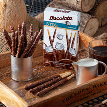 Load image into Gallery viewer, Biscolata Stix Biscuit Snacks Coated with Milk Chocolate - (9 Pack) (Coconut)