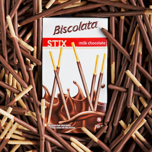 Biscolata Stix Biscuit Snacks Coated with Milk Chocolate - (9 Pack)