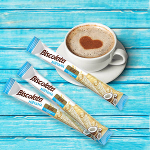 Biscolata Nirvana Rolled Wafers with Chocolate Cream Filled - 12 Pack Wafer (Coconut)