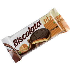 Biscolata Pia Cookies with Fruit Filling – 12 Pack Snacks Soft Baked Cookies (Orange)