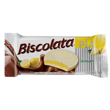 Load image into Gallery viewer, Biscolata Pia Cookies with Fruit Filling – 12 Pack Snacks Soft Baked Cookies (Lemon)