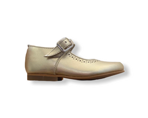Caminito Gold Leather Buckle Shoe
