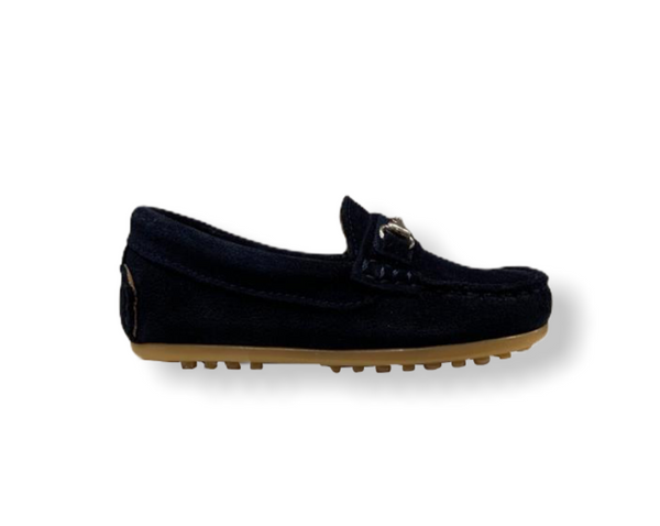 Rettos Navy Nubuck Classic Loafer