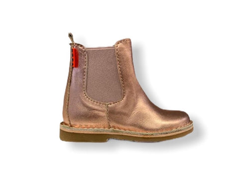 Petasil Kaz Rose Gold Leather Chelsea Boot
