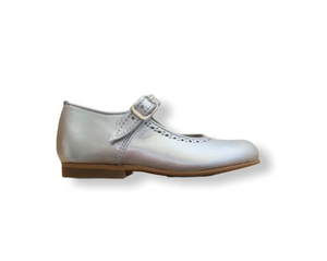 Caminito Silver Leather Buckle Shoe