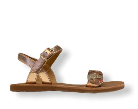 Pom D'api Plagette Twist Copper Buckle Sandal