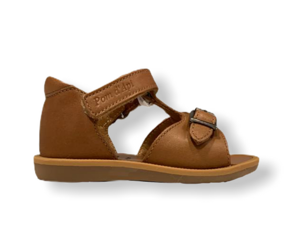 Pom D'api Poppy Easy Camel Leather Sandal