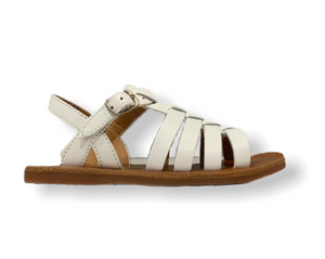 Pom D'api Plagette Strap White Leather Sandal