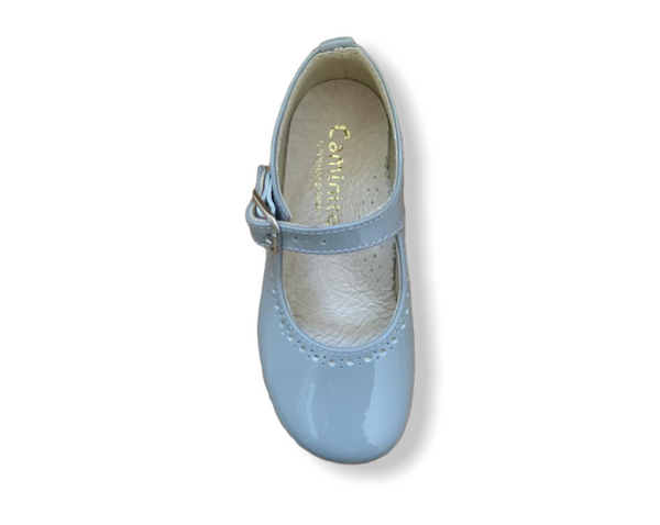 Caminito Blue Patent Leather Buckle Shoe