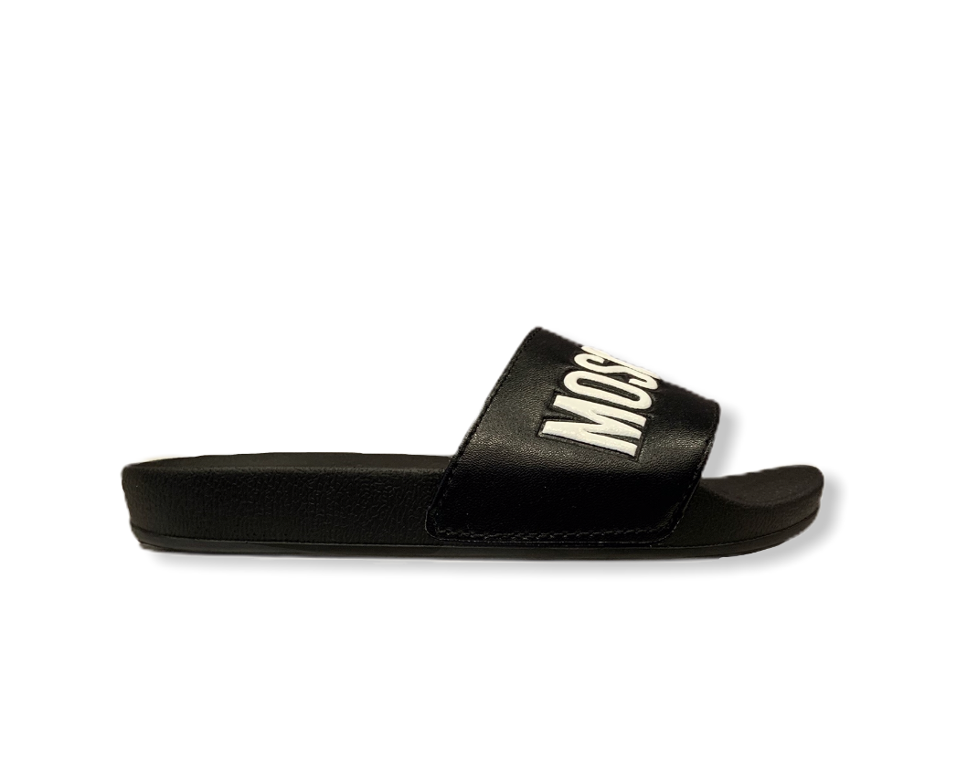 Moschino Black/White Logo Slider