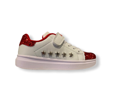 Lelli Kelly Helene White/Red Trainers