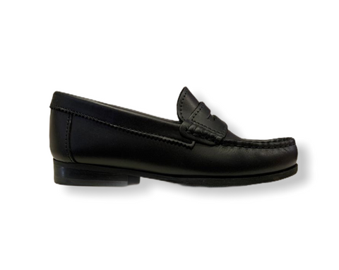Petasil Hill Black Leather Loafer