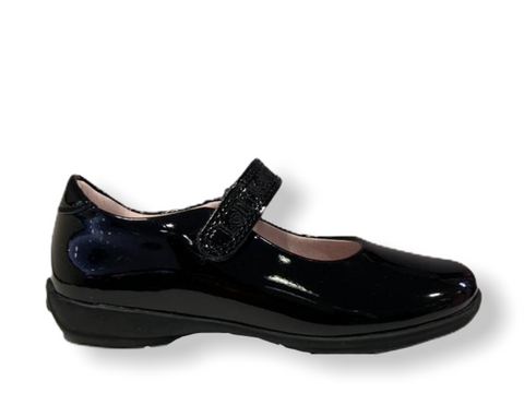Lelli Kelly Classic Black Patent School Shoe