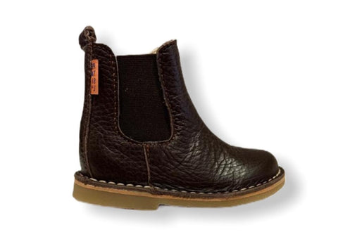 Petasil Kaz Dark Brown Leather Chelsea Boot
