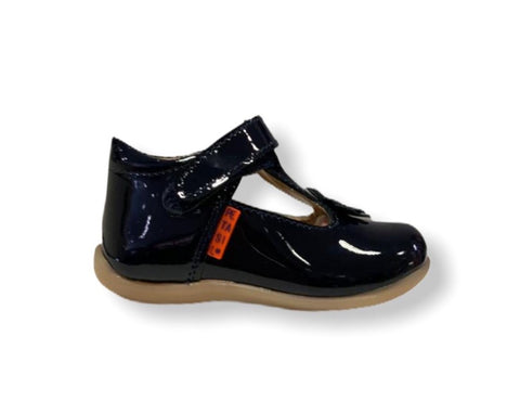 Petasil Fern Navy Patent T-Bar Shoe