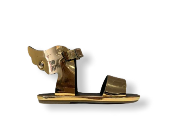 Babywalker Winged Hermes Gold Sandal