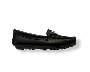 Rettos Black Leather Classic Loafer