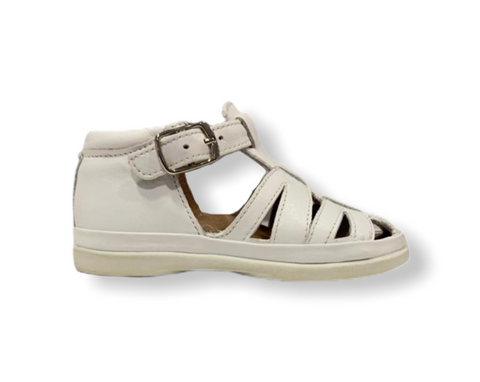 Pom D'api NewFlex Buck White Leather Sandal