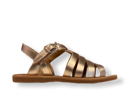 Pom D'api Plagette Strap Copper Leather Sandal