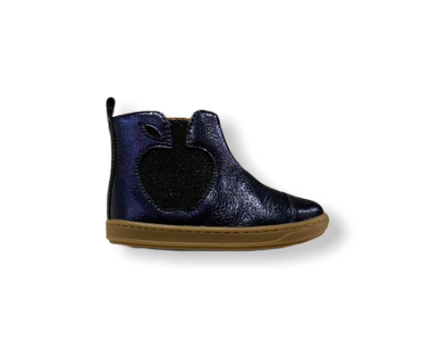 Pom D'api Bouba Apple Navy Metallic Boot