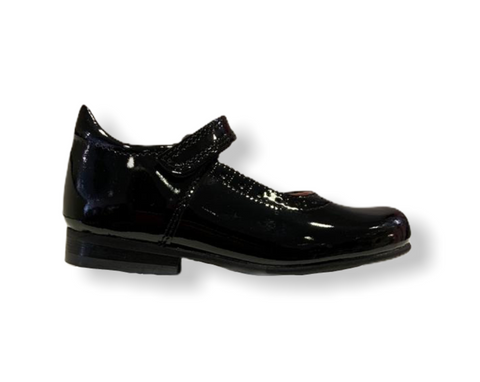 Petasil Tanya Black Patent Leather Mary Jane School Shoe