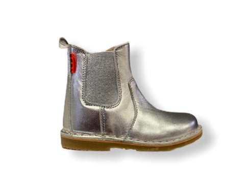 Petasil Kloud Silver Leather Chelsea Boot