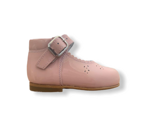 Caminito Baby Pink Patent Leather Buckle Shoe