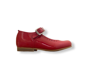 Caminito Red Patent Leather Buckle Shoe