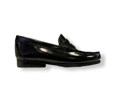 Petasil Hill Hi-Shine Black Leather Loafer