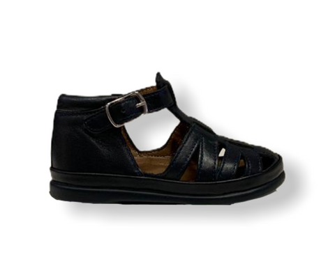 Pom D'api NewFlex Buck Navy Leather Sandal