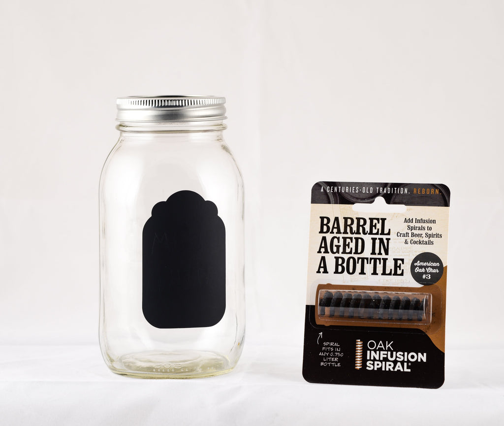 Barrel Aged in a Mason Jar Kit with Erasable Label