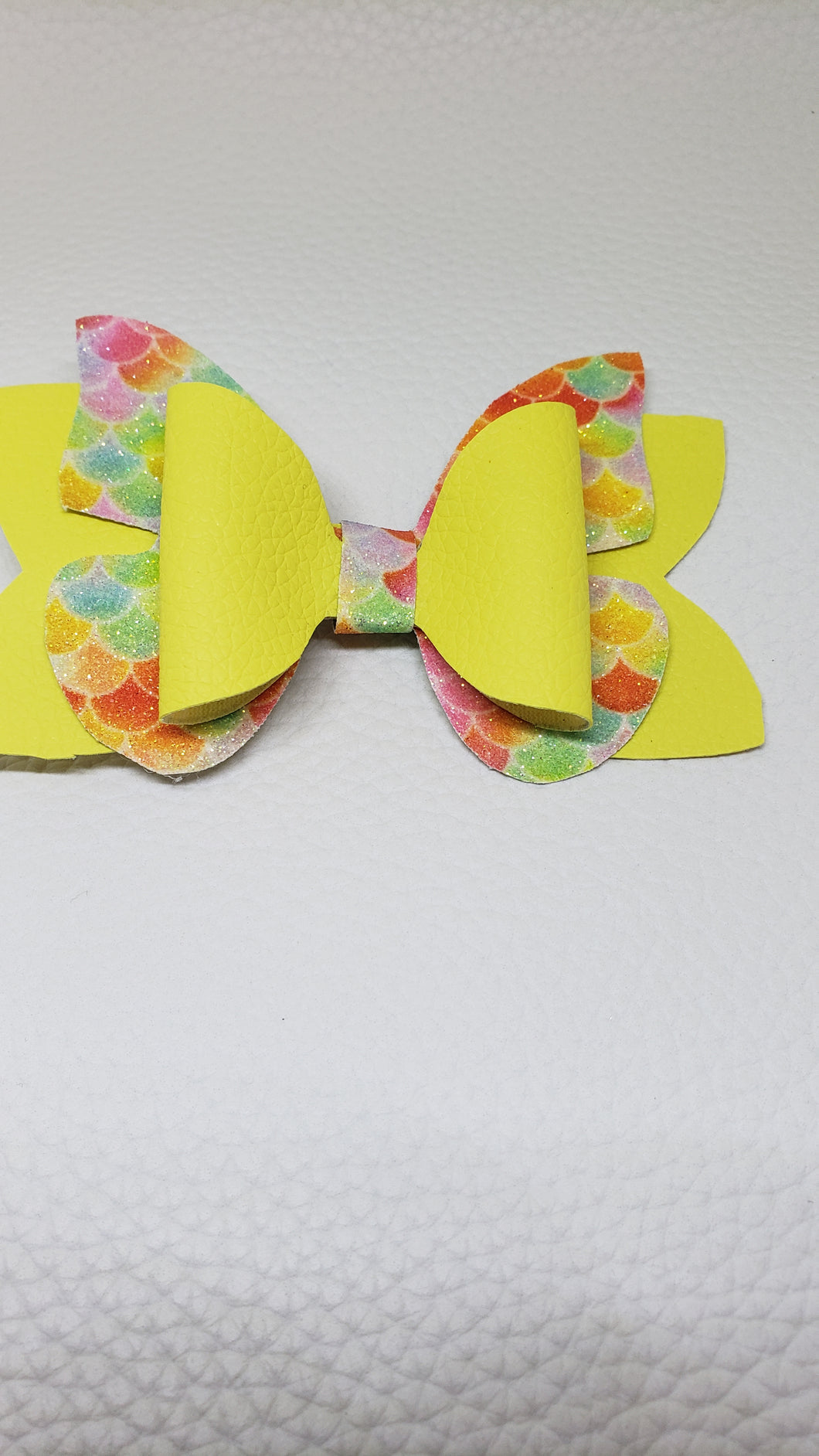 Yellow Mermaid Butterfly Hair Clip