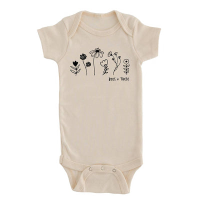 Cream Colored Bees + These Baby Onesie Wildflower