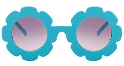 Blue Flower Sunglasses for girls and babies