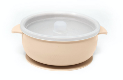 Light Sherbet Silicone Suction Bowl with Lid for babies and children