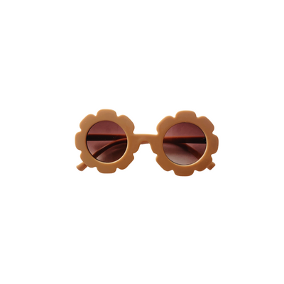 Girls and Baby Tan Flower Sunglasses