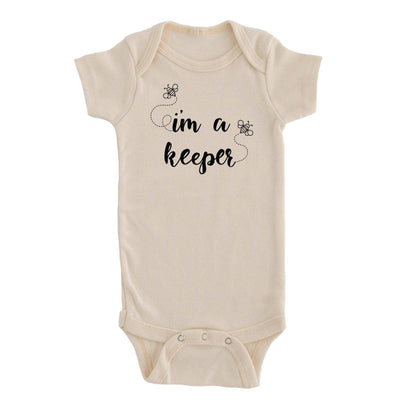 I'm A Keeper Bee Graphic Onesie
