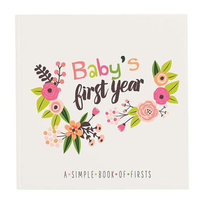 Modern Floral Baby's First Year Memory Book - Little Artist